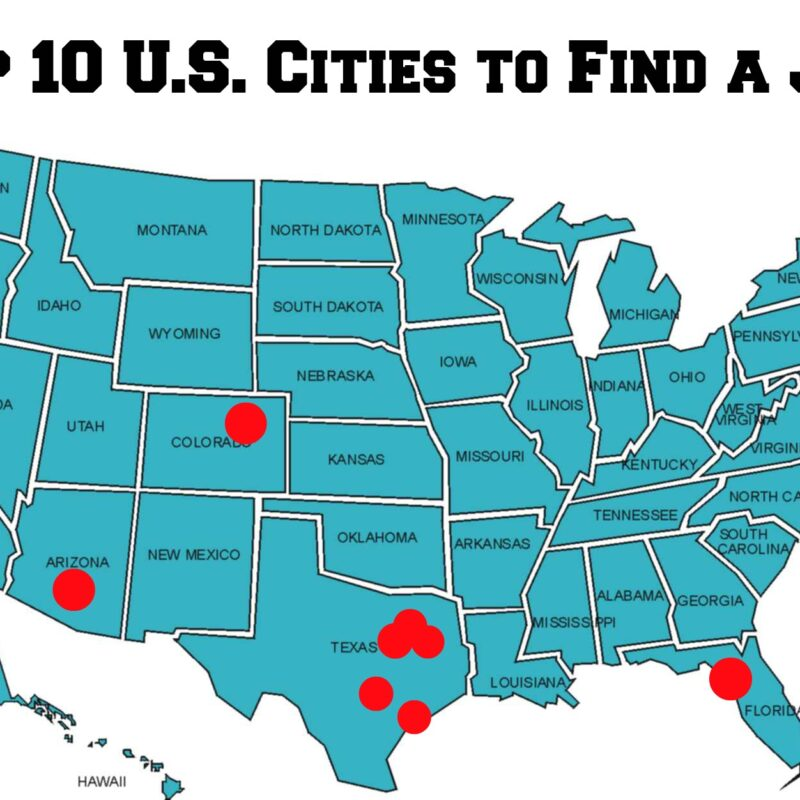 cities to find job