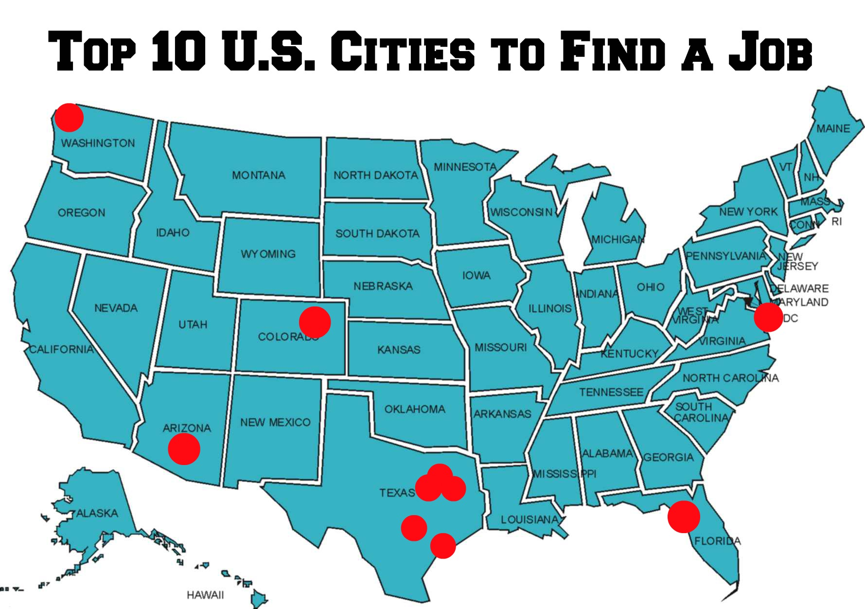 Top 10 U.S. Cities to Find a Job