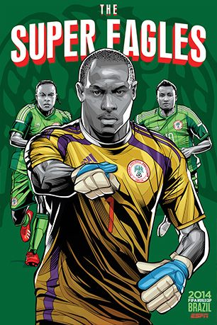 World Cup 2014 Team Posters