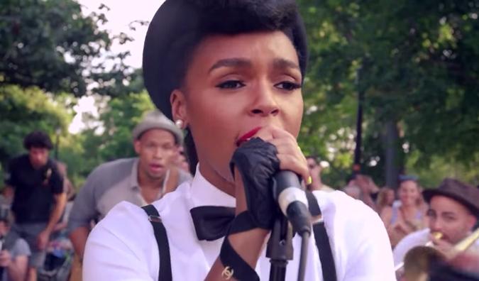 Janelle Monae Surprises New York Street Performers, The Drumadics
