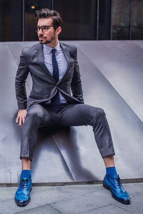 blue shoes men