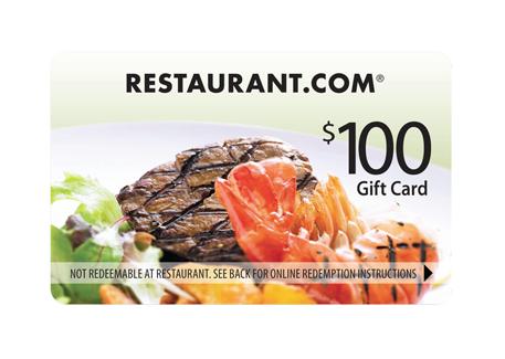 restaurant.com $100 gift card