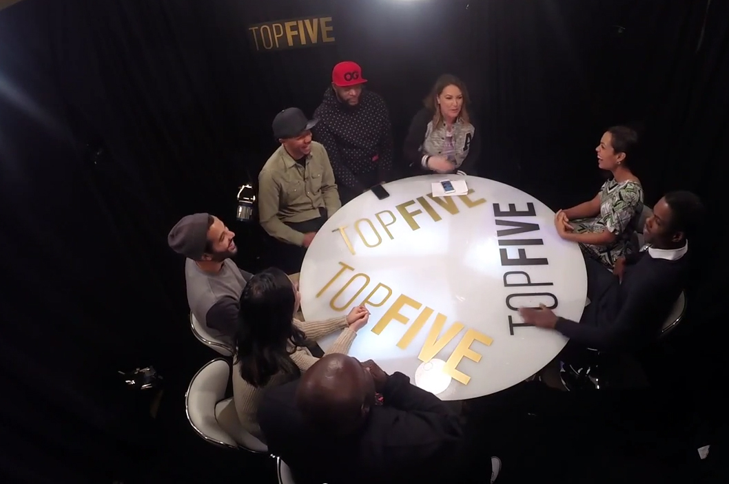 Chris Rock, Rosario Dawson Debate the Best Rappers of All Time with Angie Martinez, Ed Lover, and Others