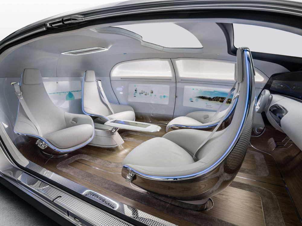 mercedes-benz F 015 Luxury In Motion interior