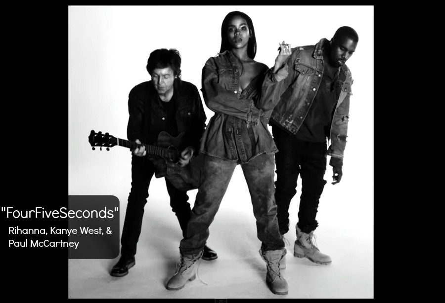 "Rihanna, Kanye West, and Paul McCartney Release Music Video for ""FourFiveSeconds"""