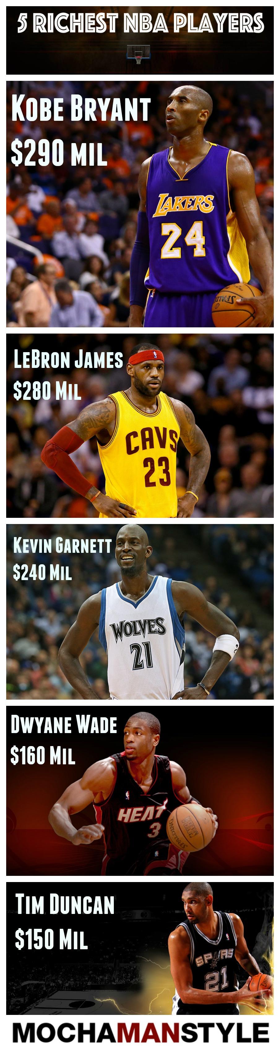 5 richest nba players