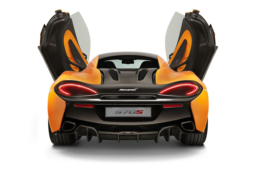 McLaren 570S Coupe doors