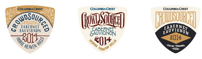 columbia crest crowdsourced caabernet labels