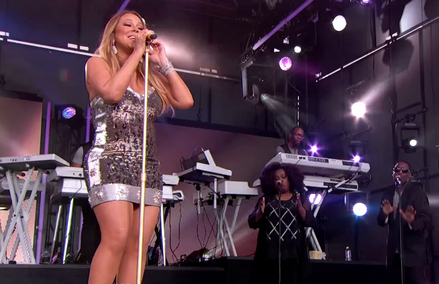 "Mariah Carey Performs ""Vision of Love"" and ""Infinity"" to Promote New Vegas Show"