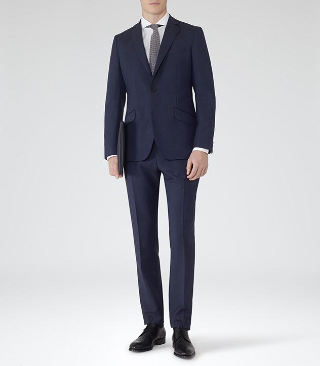 reiss modern fit suit