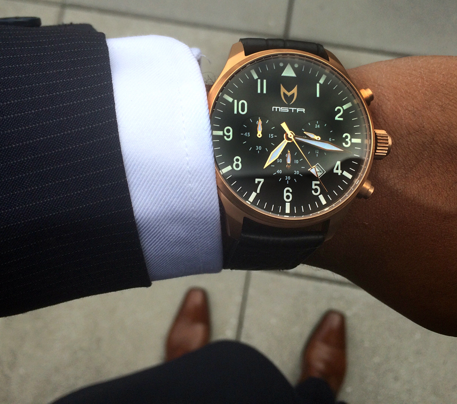 The Meister Rose Gold Aviator Watch Will Make You a Master of Style