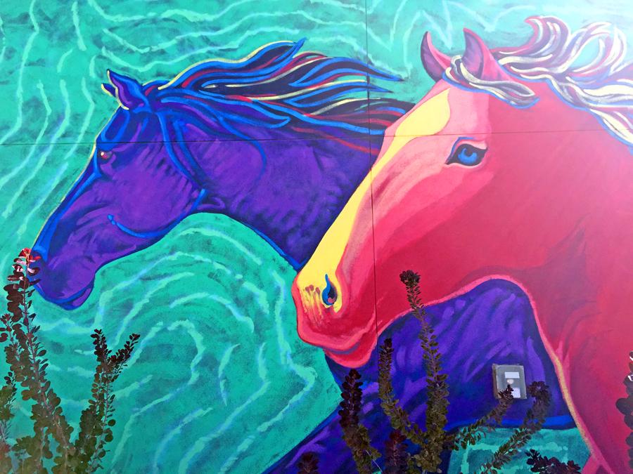 14 hands winery wild horses mural