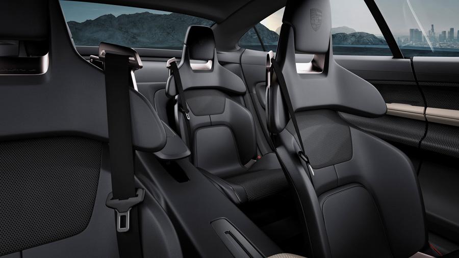 porsche mission e concept car interior