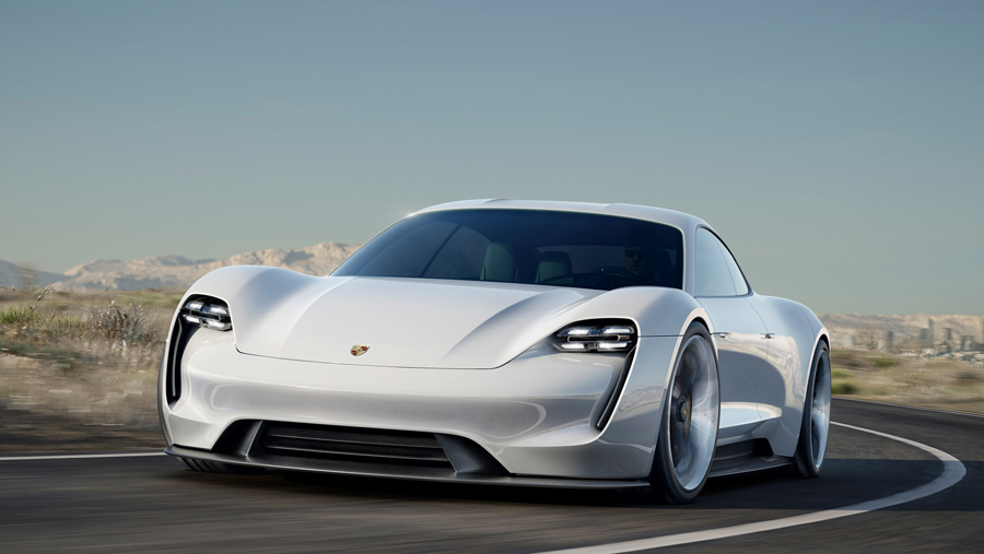 The Porsche Mission E Concept is the Brand's First All-Electrically Powered Four-Seat Sports Car