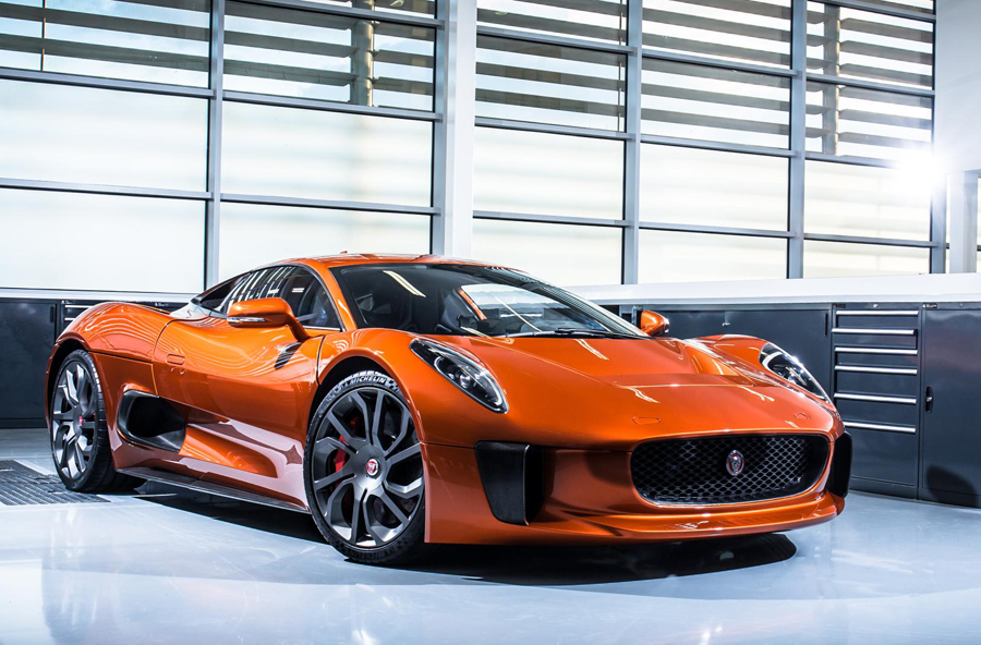 "Jaguar C-X75 Concept Car Stars in New James Bond Film, ""Spectre"""