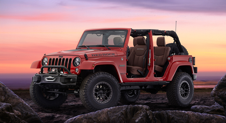 Jeep and Mopar Team Up to Create the Rugged Wrangler Red Rock Concept