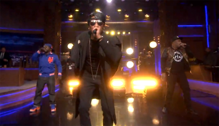 "A Tribe Called Quest Reunites to Perform ""Can I Kick It?"""