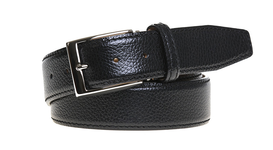 Roger ximenez black pebble belt