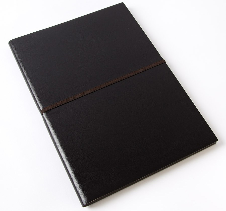 moderno black leather journal