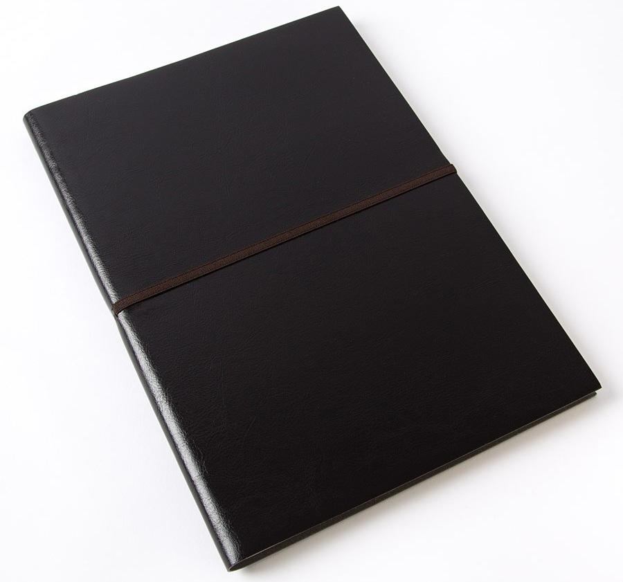 moderno black leather journal
