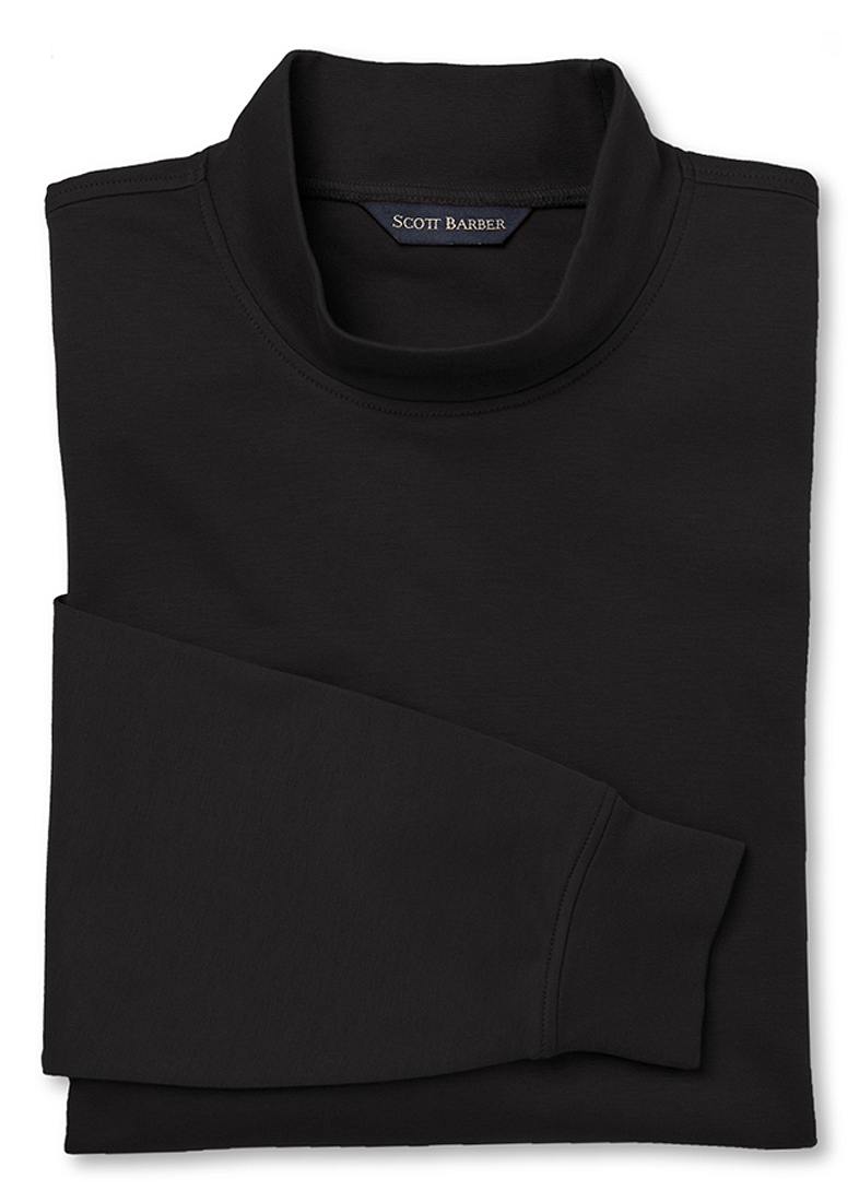 scott barber black mock turtleneck