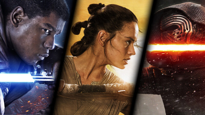 star wars the force awakens Finn Rey Kylo Ren