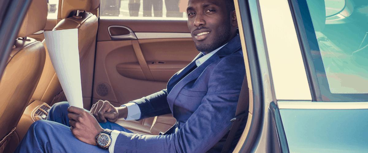 black man wearing suit