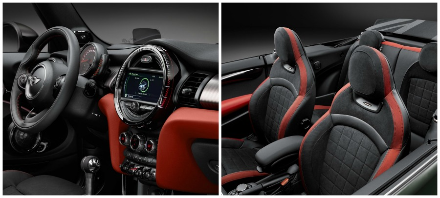 mini john cooper works convertible interior
