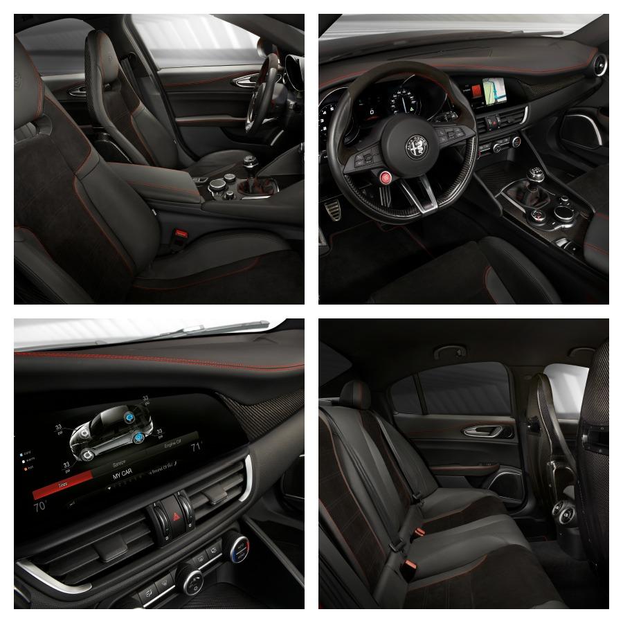 2017 Alfa Romeo Giulia Quadrifoglio interior