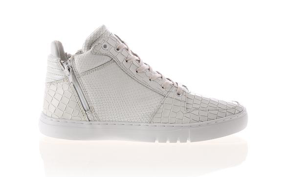 Creative Recreation Adonis Mid White Croc Snake