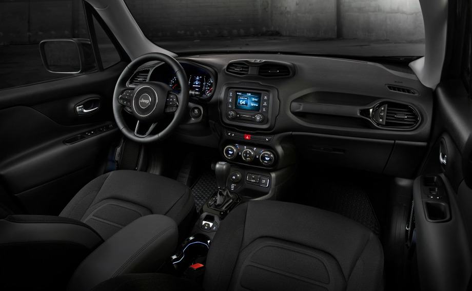 jeep renegade dawn of justice special edition interior. Black Bedroom Furniture Sets. Home Design Ideas