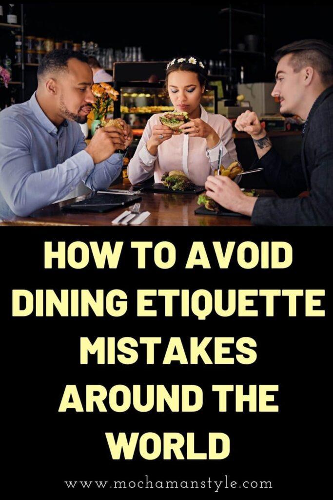 dining etiquette mistakes