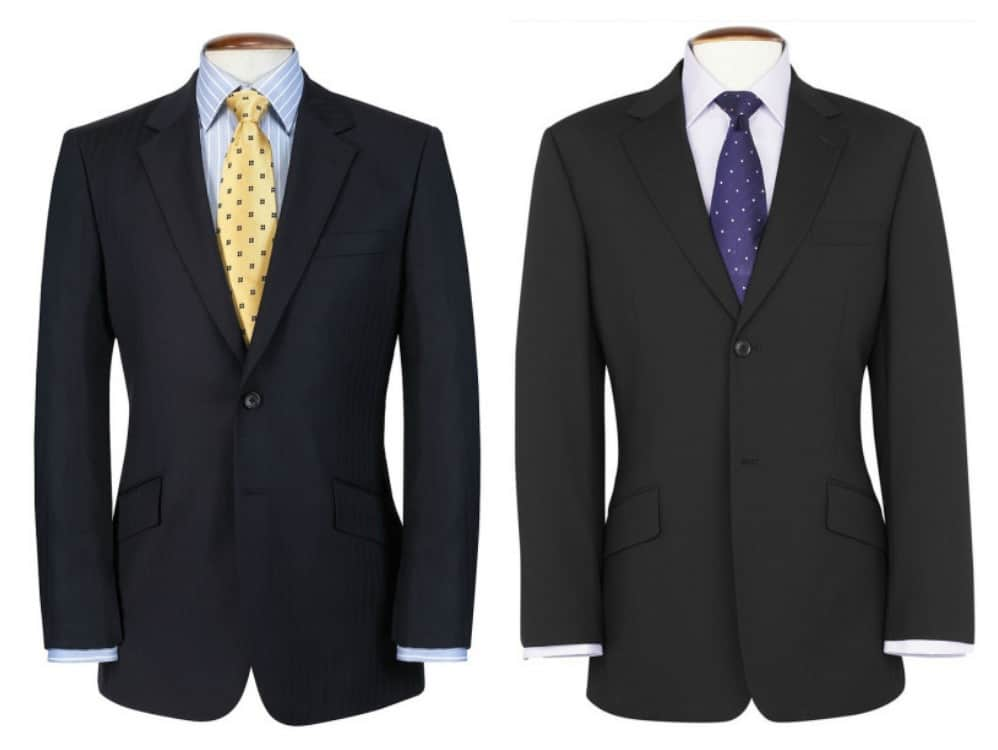 Navy suit Charcoal gray suit