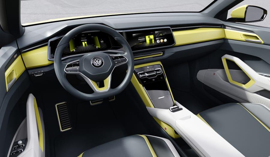 Volkswagen t-cross breeze concept car interior