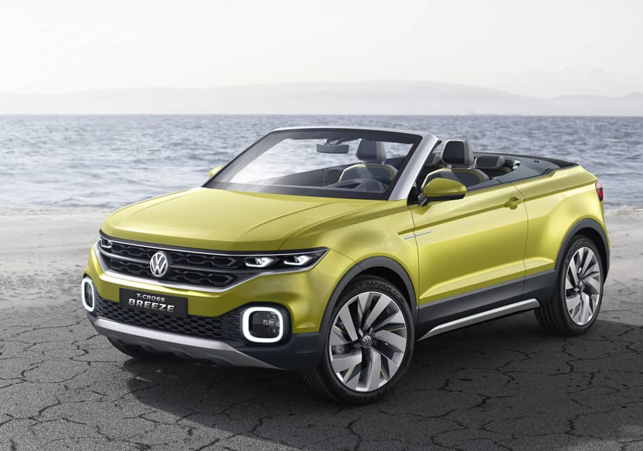 Volkswagen's New T-Cross Breeze Concept Car Will Appeal to Tech Obsessed Millenials