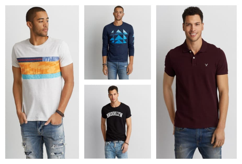 March Madness Sale: Take 25% Off Men's Tees, Graphics and Polos at AE.com
