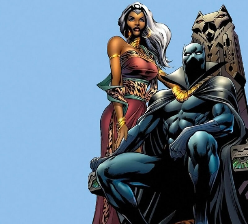 black panther t'challa and storm ororo