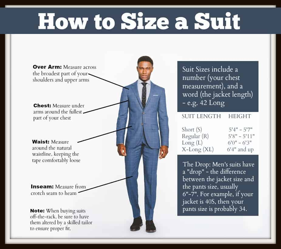 how to size a suit