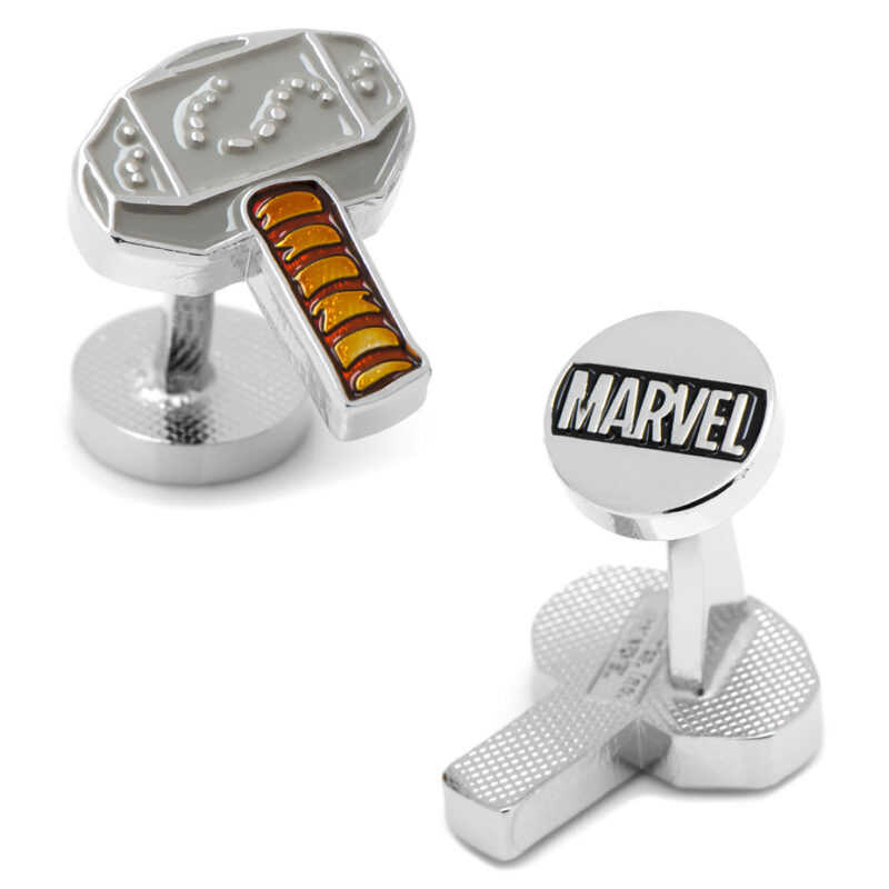marvel thor hammer Mjolnir cufflinks