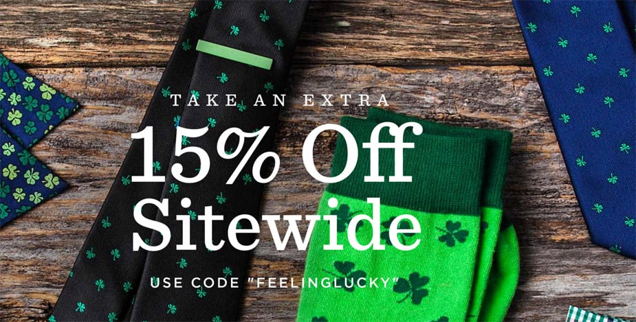 Save 15% During the Ties.com St. Patrick's Day Sale