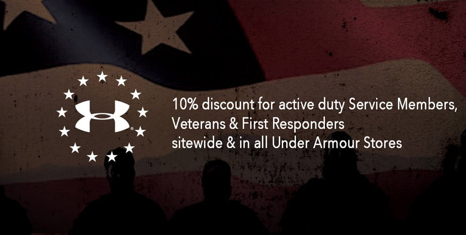 Active Military, Veterans, and First Responders Get 10% Off at Under Armour