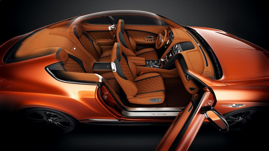 bentley continental gt speed black edition interior