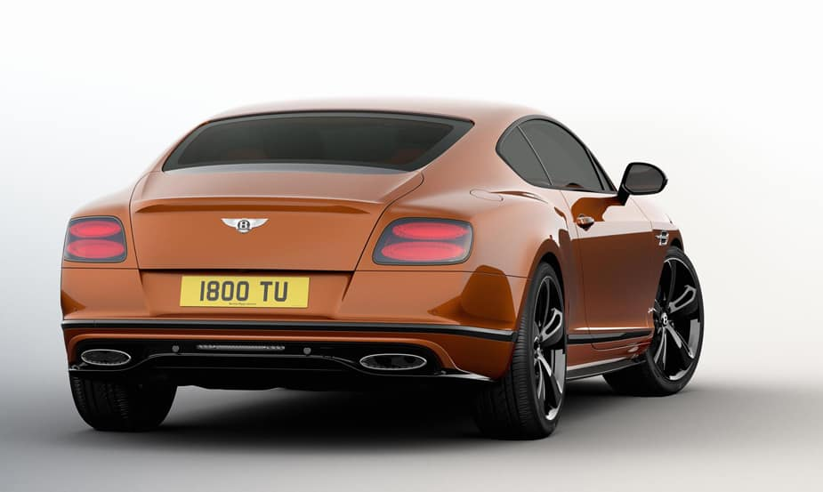 bentley continental gt speen black edition back