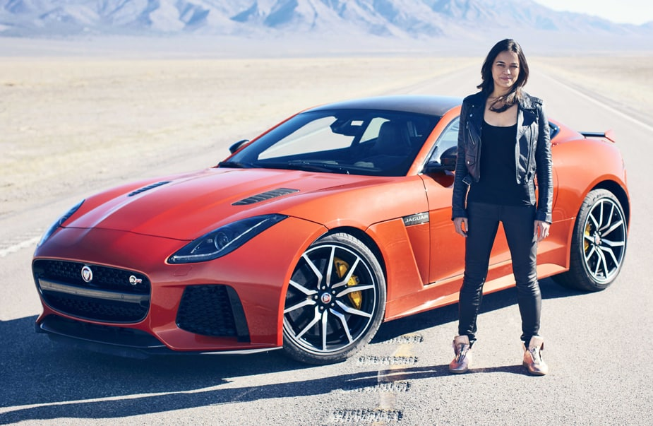 Watch Fast & Furious Star Michelle Rodriguez Reach 201MPH in a Jaguar F-TYPE SVR