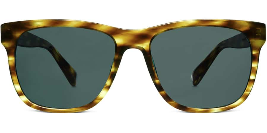 warby parker lowry glasses in green citrine summer 2016