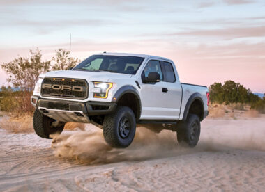 2017 ford f-150 Raptor in mojave desert