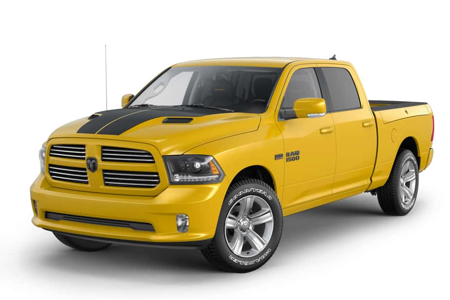 The Limited Edition Ram 1500 Stinger Yellow Sport Offers Aggressive Styling and Performance
