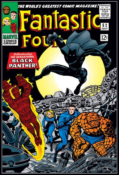 black panther fantastic four 52