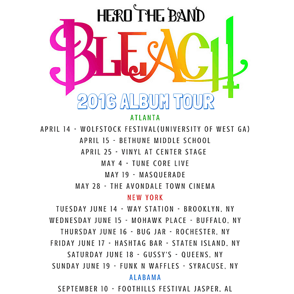 hero the band bleach tour