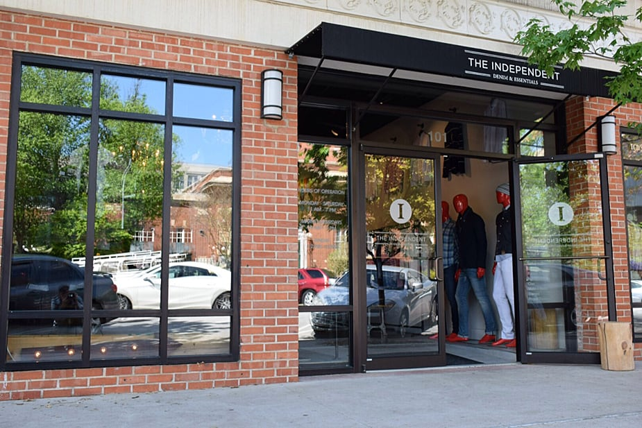 the independent bentonville men's clothing store